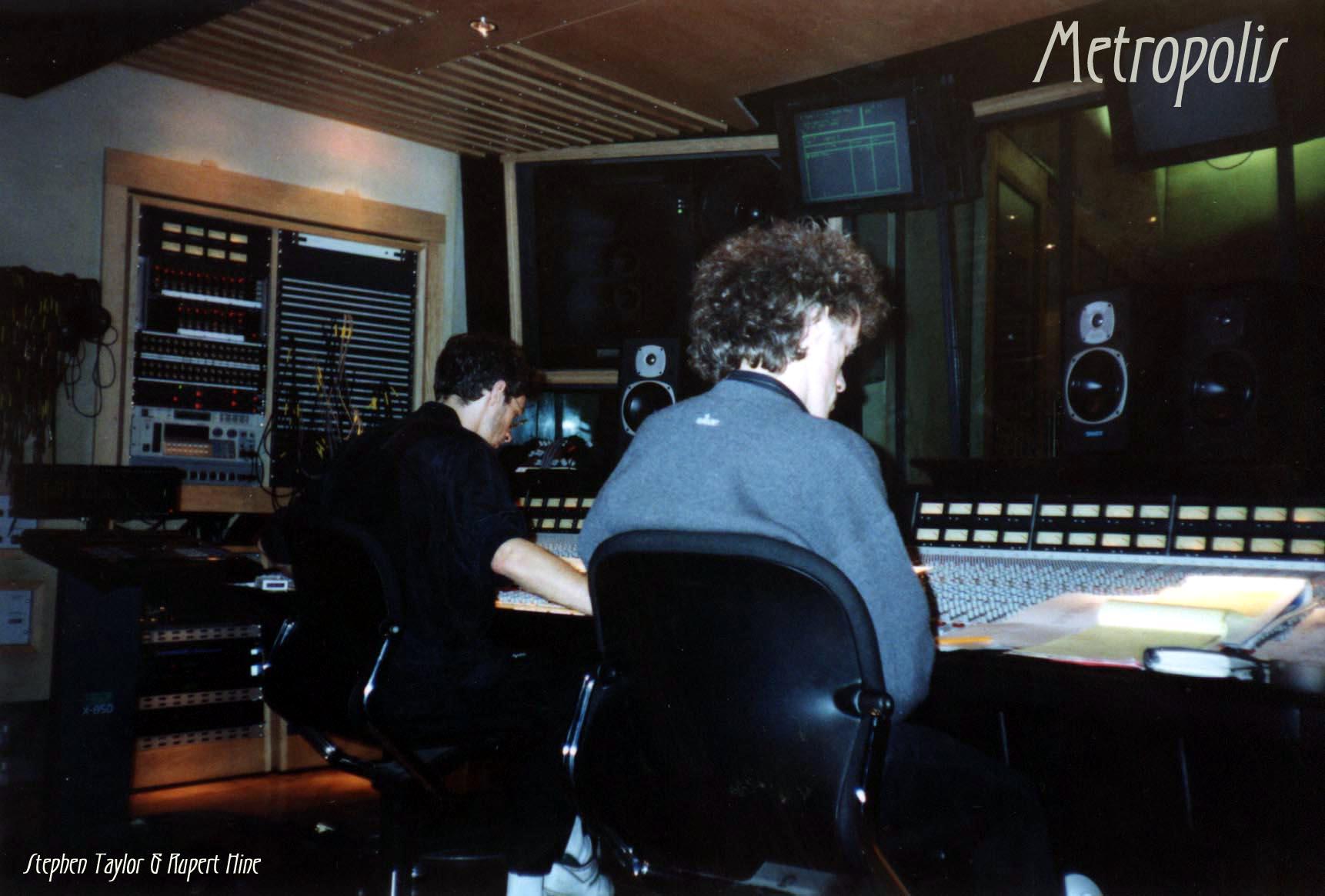 Rupert Hine at Metropolis Recording Studio London 1990